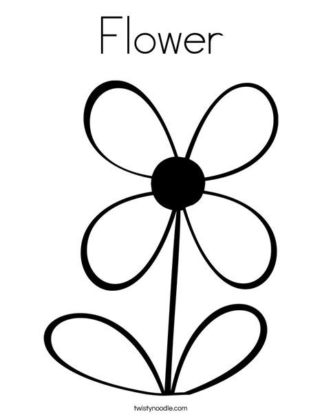 flower coloring pages part 2 flower coloring page twisty noodle