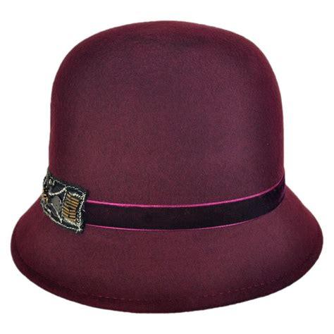 1920s Home Decor Scala Bead Decor Wool Felt Cloche Hat Cloche Amp Flapper Hats