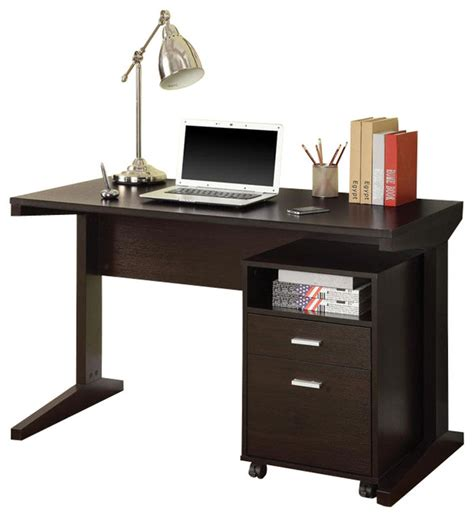 Computer Desk For Two Users Computer Desk With Filing Drawer Casual Cappuccino Computer Desk With Open Shelf Drawer Rolling