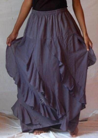18247 Diagonal Ruffle S Sale Skirt a647 maxi skirt diagonal ruffle lagenlook rayon made
