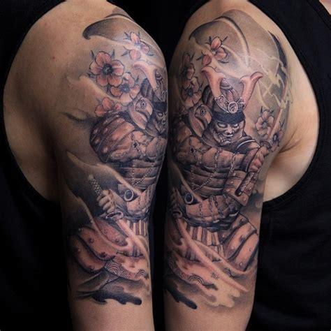 samurai sleeve tattoo japanese half sleeve samurai samurai