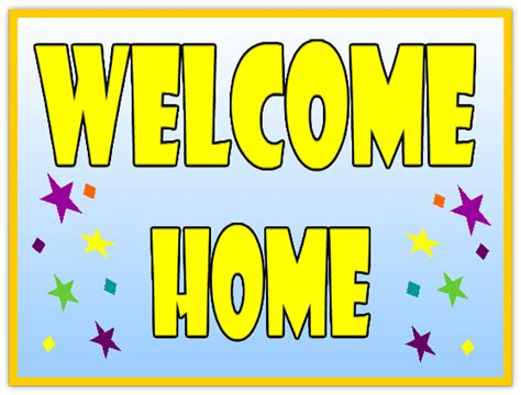 Welcome Home 110 Welcome Home Sign Templates Templates Click On A Category Below To View Welcome Home Banner Template