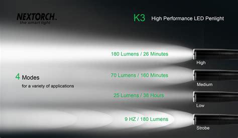lumens torch nextorch k3 penlight torch 180 lumens