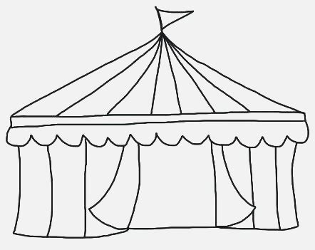 Circus Tent Template Card by Circus Tent Printable Dailypoll Co