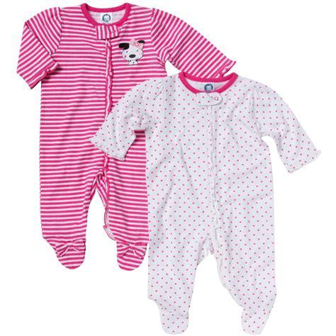 gerber infant s 2 pack footed sleeper pajamas polka