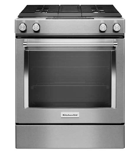 kitchenaid 174 30 inch 4 burner dual fuel downdraft front