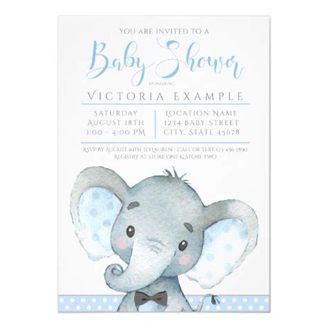 Boys Cute Elephant Baby Shower Invitations Zazzle Com Elephant Baby Shower Invitations Templates