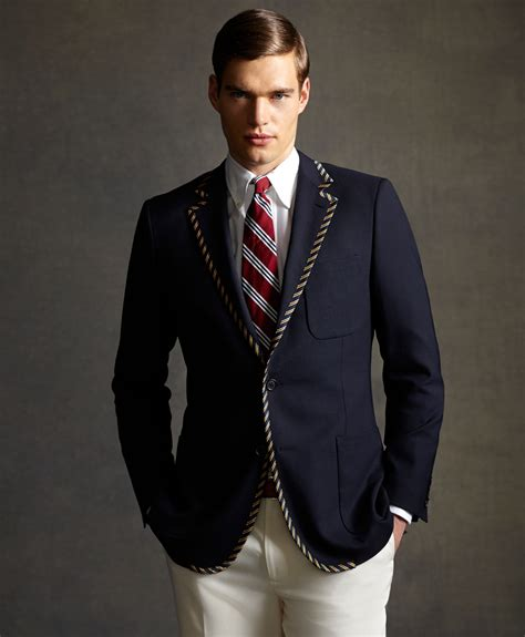 Navy Fashion lyst brothers the great gatsby collection tipped blazer in blue for