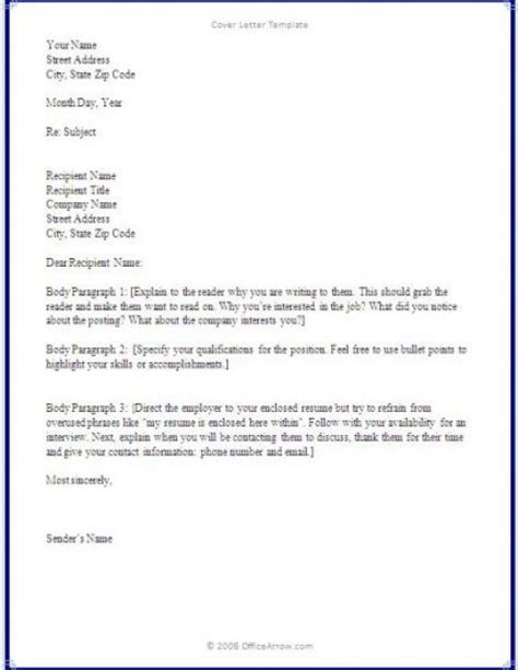 writing a cover letter basics covering letter exle