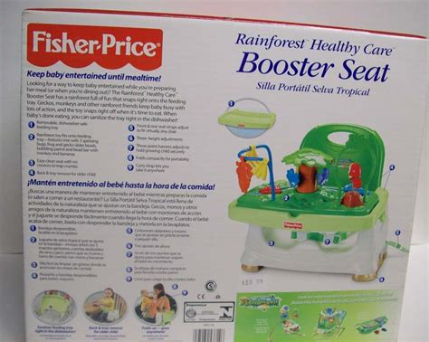 fisher price booster seat rainforest fisher price rainforest healthy care booster seat new in