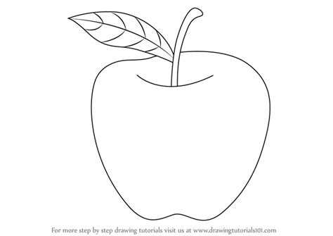 what to draw for learn how to draw an apple for fruits step by step