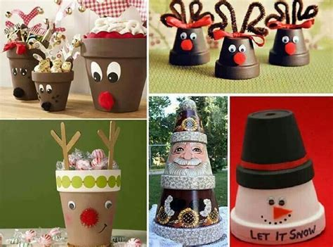 christmas flower pots xmas pinterest