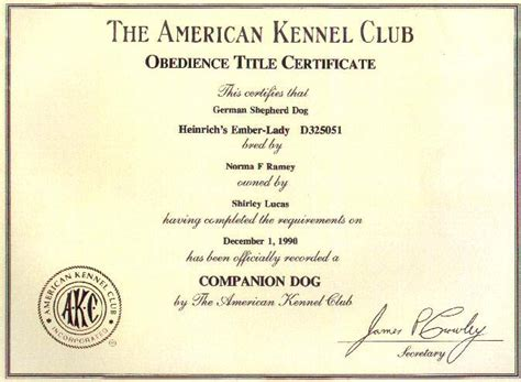 companion certification obediencecertificates