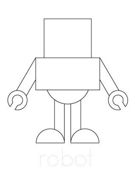 Robot Outline For Craft Robot Party Pinterest Sons A Robot And Robots Robot Craft Template