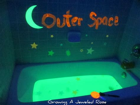 Space Bath outer space themed bath growing a jeweled