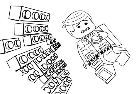 coloring pages lego movie emmet coloriage de lego movie