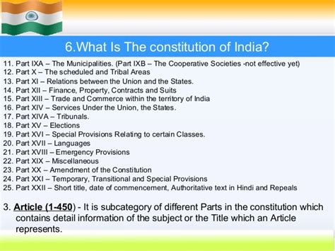 sections of indian constitution indian constitution