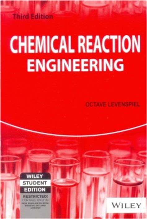 chemical engineering books purchase chemical reaction engineering 3 edition