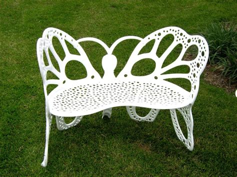 butterfly benches amazon com flower house fhbfb06w butterfly bench white outdoor benches patio
