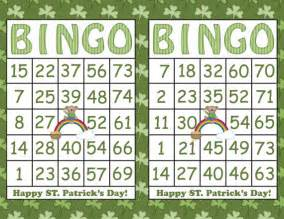 items similar to 30 bingo cards st s day shamrock printable bingo instant
