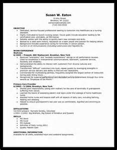 Nursing Assistant Resume Format Sle Resume For Bsc Nursing Fresher Pdf Document