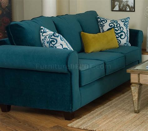 blue couch set casual fabric living room blue sofa golden green chair set