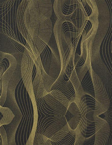 le schwarz gold globalove vliestapete karim rashid tapete 55056 design