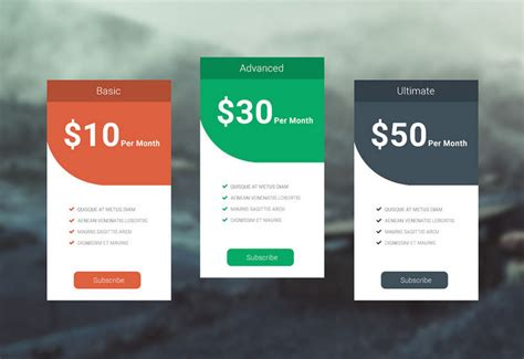 Price Card Template by 35 Free Photoshop Psd Price Templates For Pricing Tables