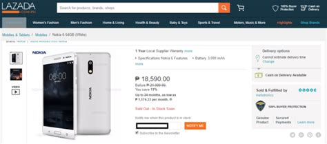 Hp Nokia X Lazada nokia 6 spotted at lazada goes for php18 590 gadget
