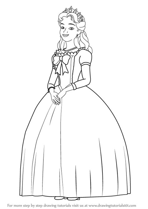 queen miranda coloring page learn how to draw queen miranda from sofia the first