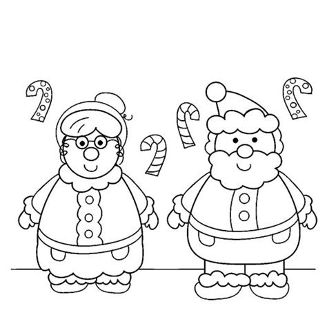 coloring pictures of santa and mrs claus mrs claus coloring page coloring pages ideas