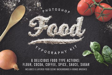 Photoshop Tutorial Food Typography | 25 must have photoshop actions inspirationfeed