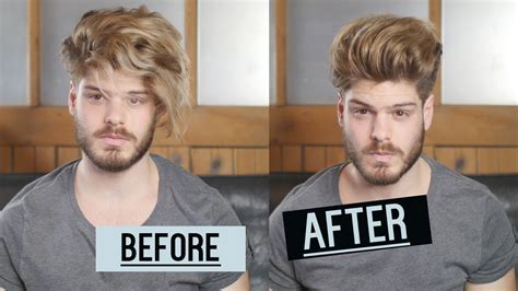 tips for hairstyle for broad headed men bed head hair tutorial men s hair 2016 second day hair
