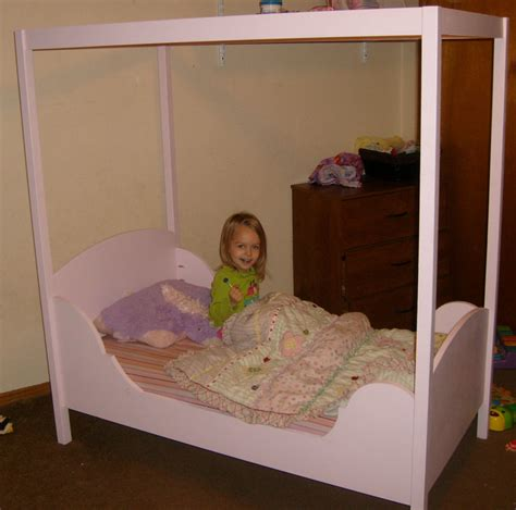 toddler canopy beds toddler canopy bed by preacherdave lumberjocks woodworking community