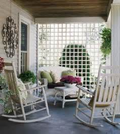 patio rocking chair decorating