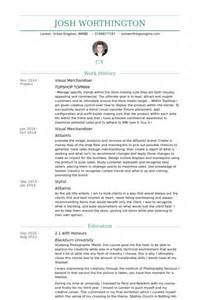 Visual Merchandiser Resume by Visual Merchandiser Exemple De Cv Base De Donn 233 Es Des Cv