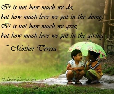where do you put the st mother teresa quotes on giving quotesgram