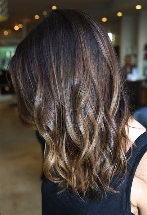 brunette hairstyles foils ombre hair inspiration to bring to the salon brunette