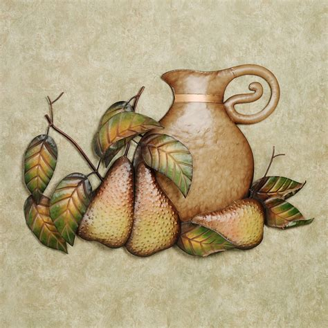 Metal Kitchen Decor by Fall Feast Pears Metal Wall Sculpture