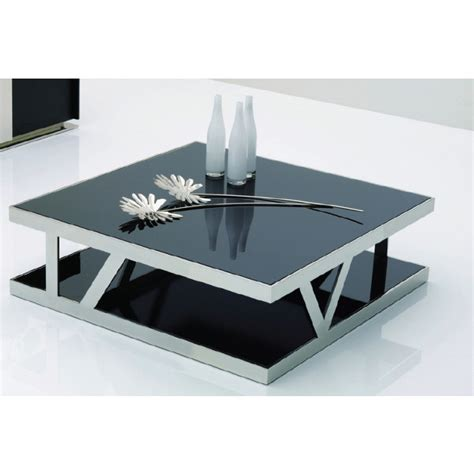 black glass square coffee table 929e modern black glass square coffee table