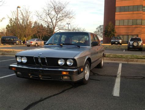1987 Bmw 535is E28 Value 1987 Bmw 535is German Cars For Sale