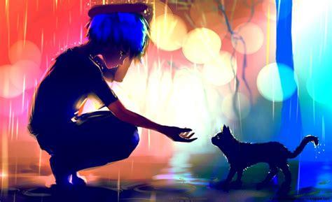 download wallpaper anime boy hd umbrella boy rain anime wallpaper hd high definitions