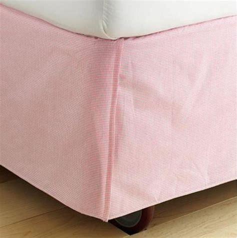 gingham bed skirt pink gingham check bedskirt