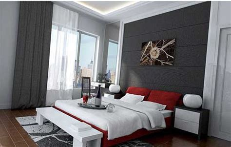 sample modern guest  samples for black white and red bedroom decorating ideas