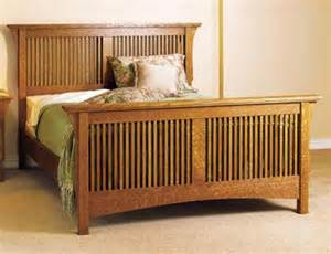 arts crafts bed mission style woodworking plan from