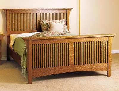 arts and crafts style bedroom furniture arts crafts bed mission style woodworking plan from