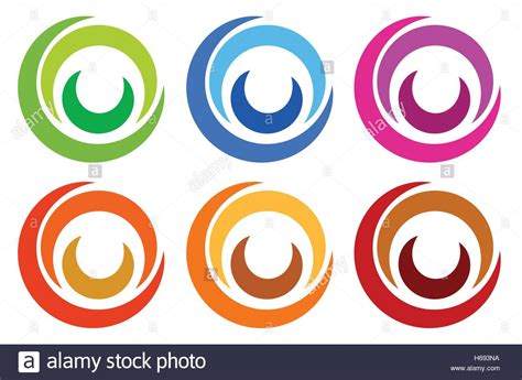 colorful circle logo colorful circle logo icon templates concentric segmented