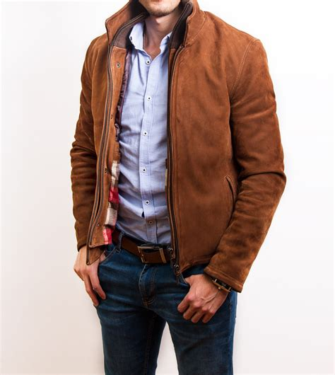 chaqueton de cuero chaqueta cuero hombre cafe