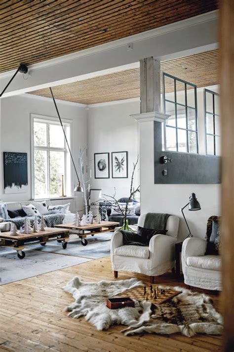 scandinavian chic house with rustic and vintage features