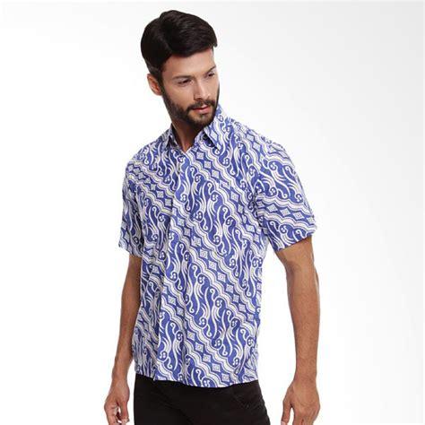 Kemeja Pria Blue jual batik trusmi parang cap kemeja pria blue white